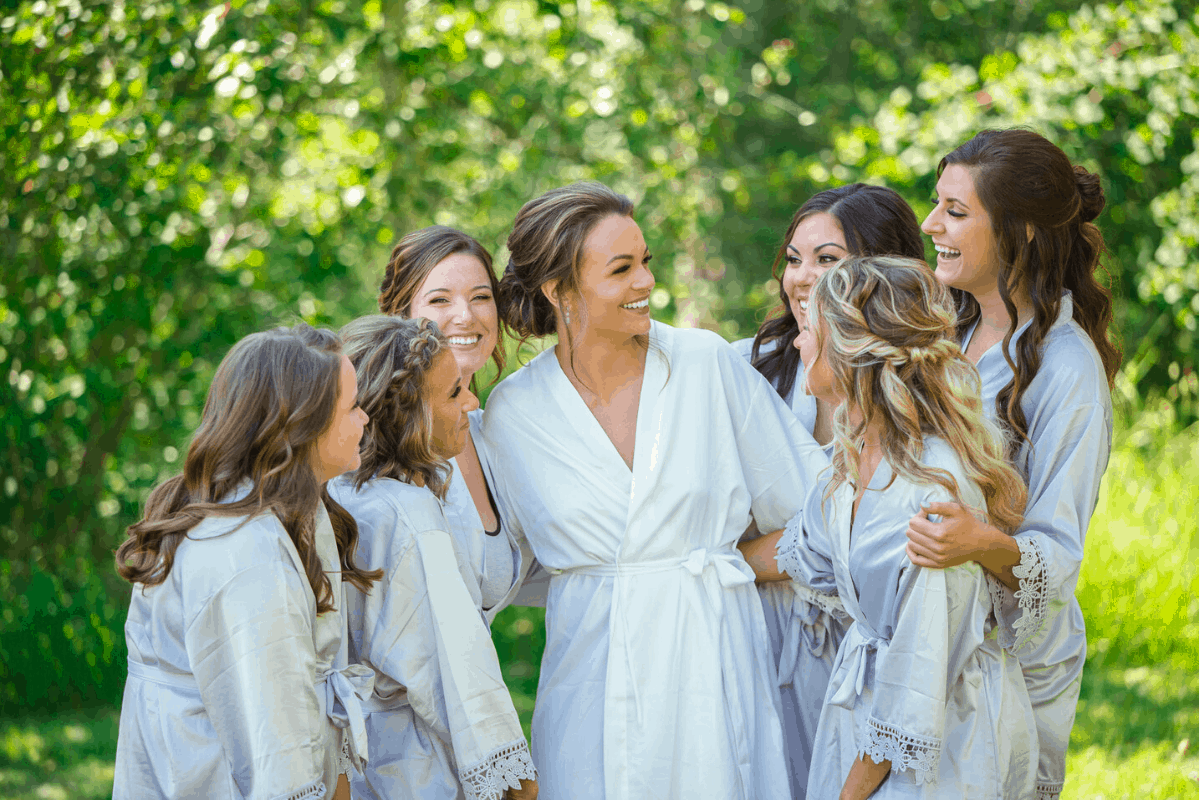 Bridal Party at Montana Wedding Quaking Aspen Ranch in Absarokee