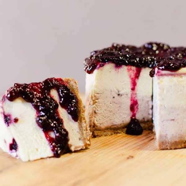 Huckleberry Cheesecake Elle's Belles Bozeman Montana