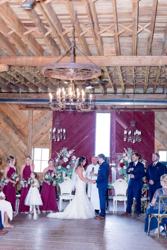 Ceremony Kylee and Ryan Rustic Ranch Wedding