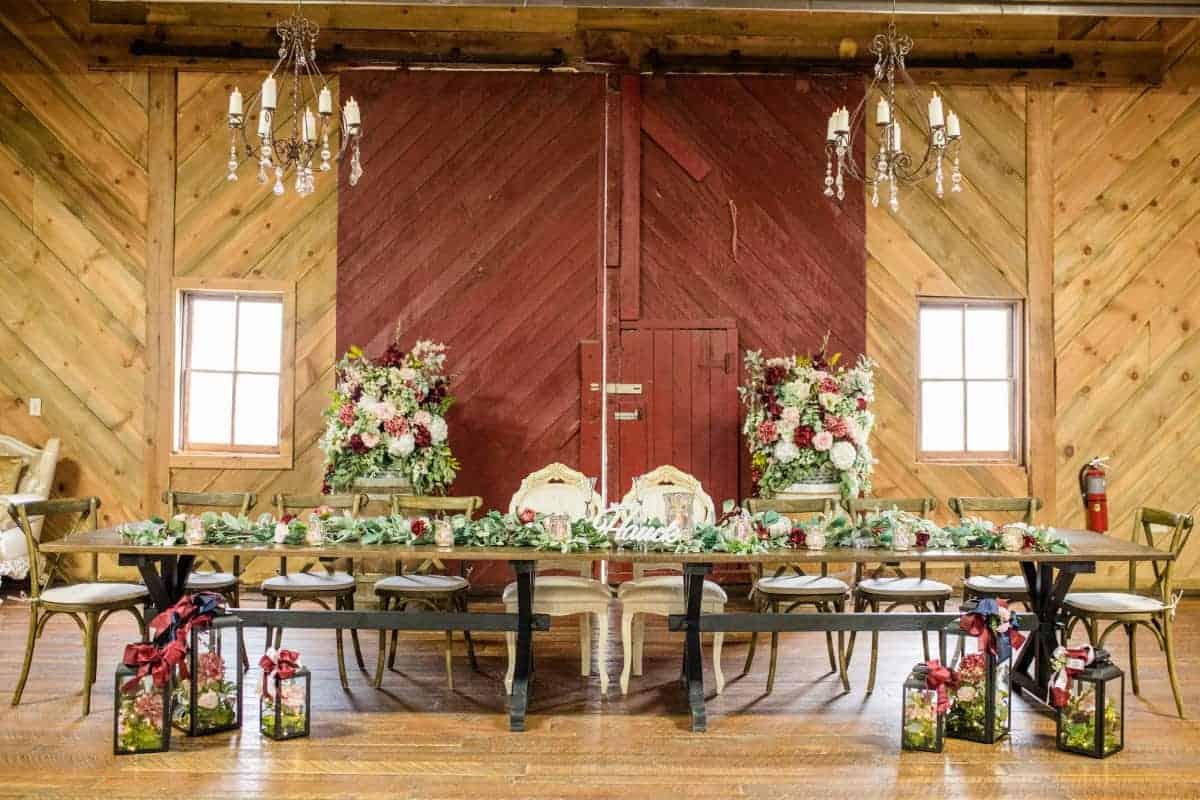 Floral Decor Head Table
