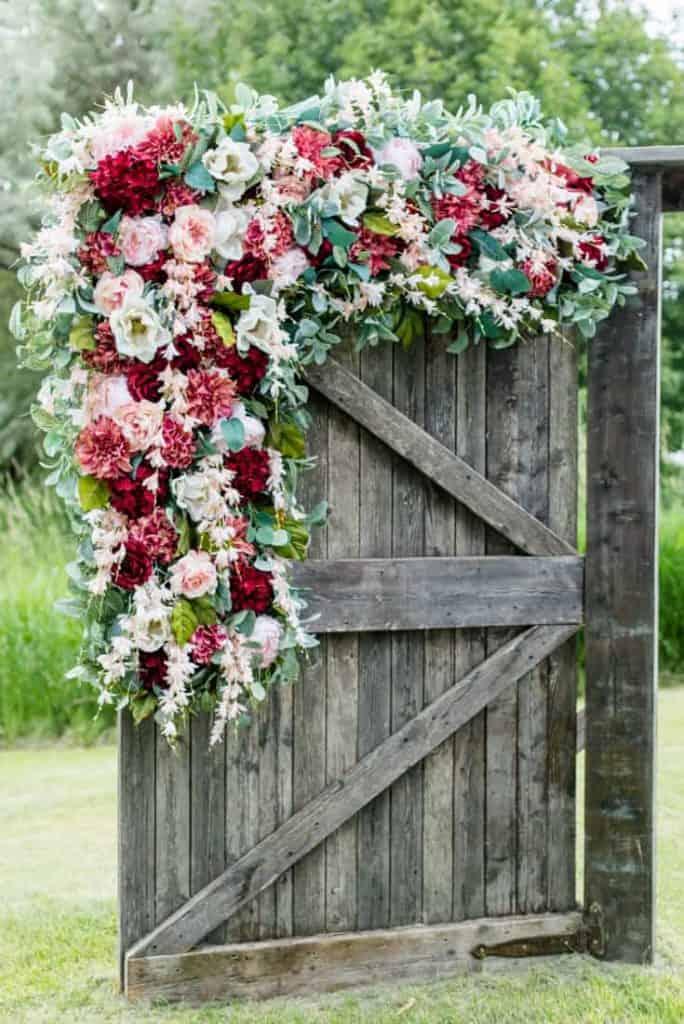 Florals Rustic Door Decor