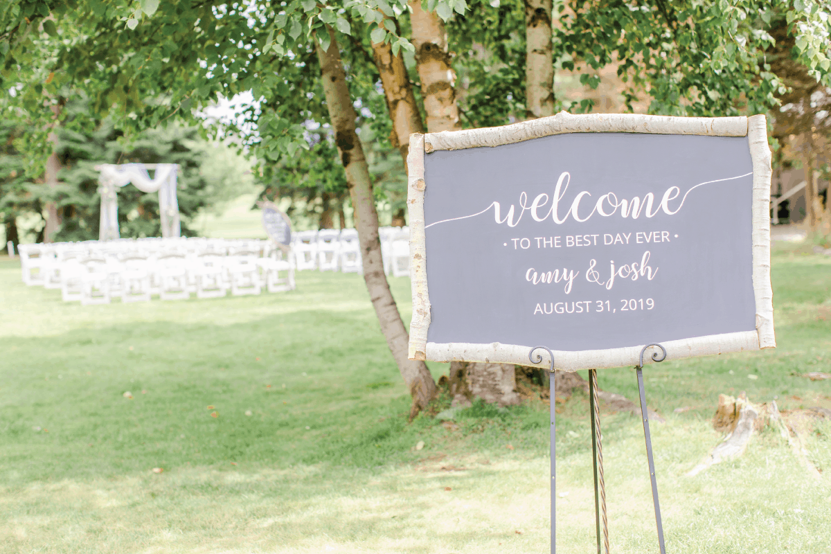 Welcome to the Best Day Ever Wedding Decor Sign