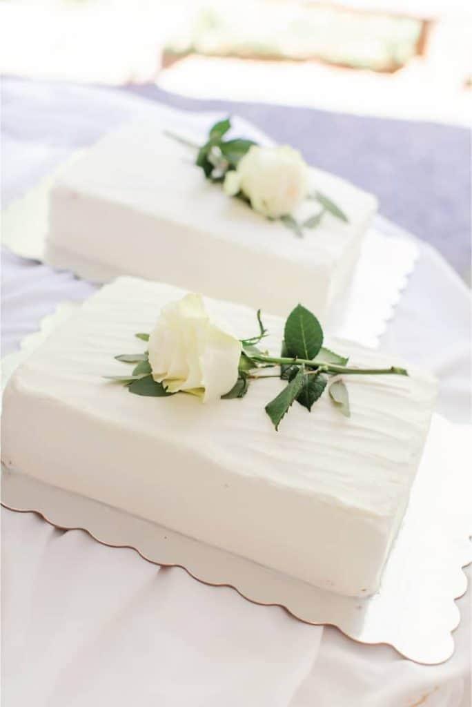 Amy and Josh Wedding Cake Sheet Cake Extra