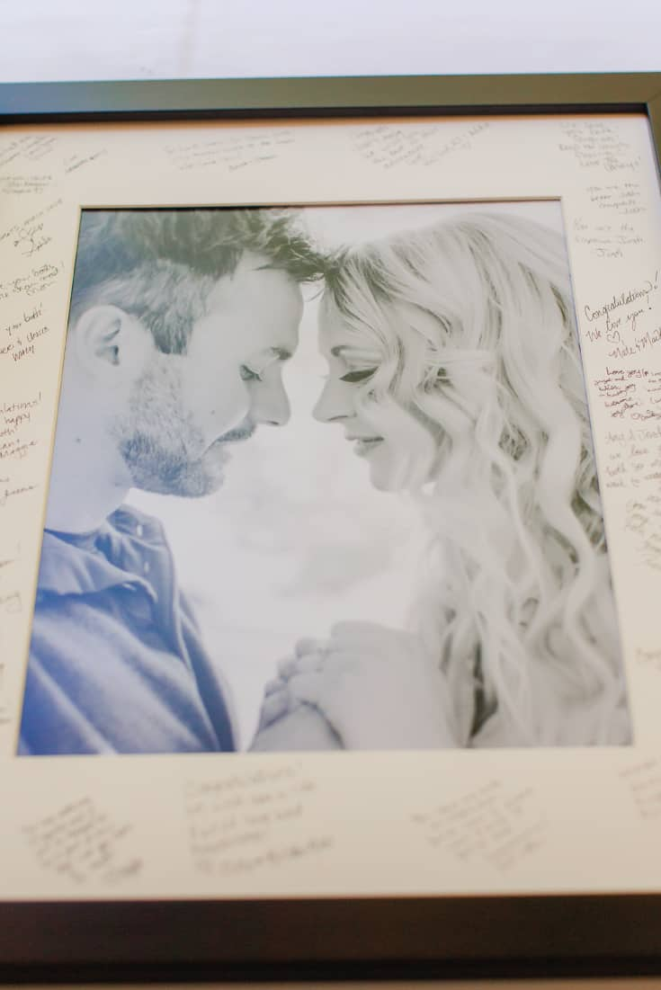 Amy and Josh Guest Book Photo Frame