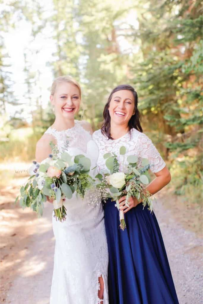Amy and Officiant Bridesmaid