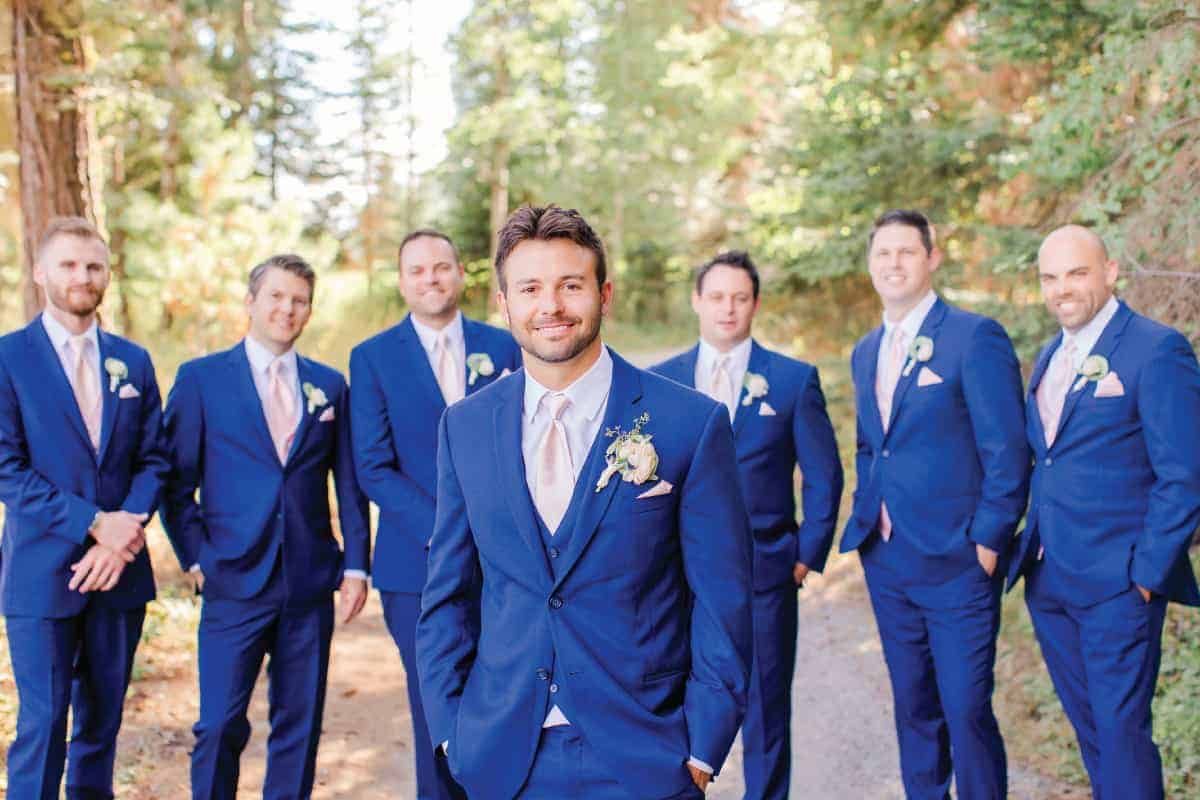 Josh and Groomsmen Grouse Mountain Lodge