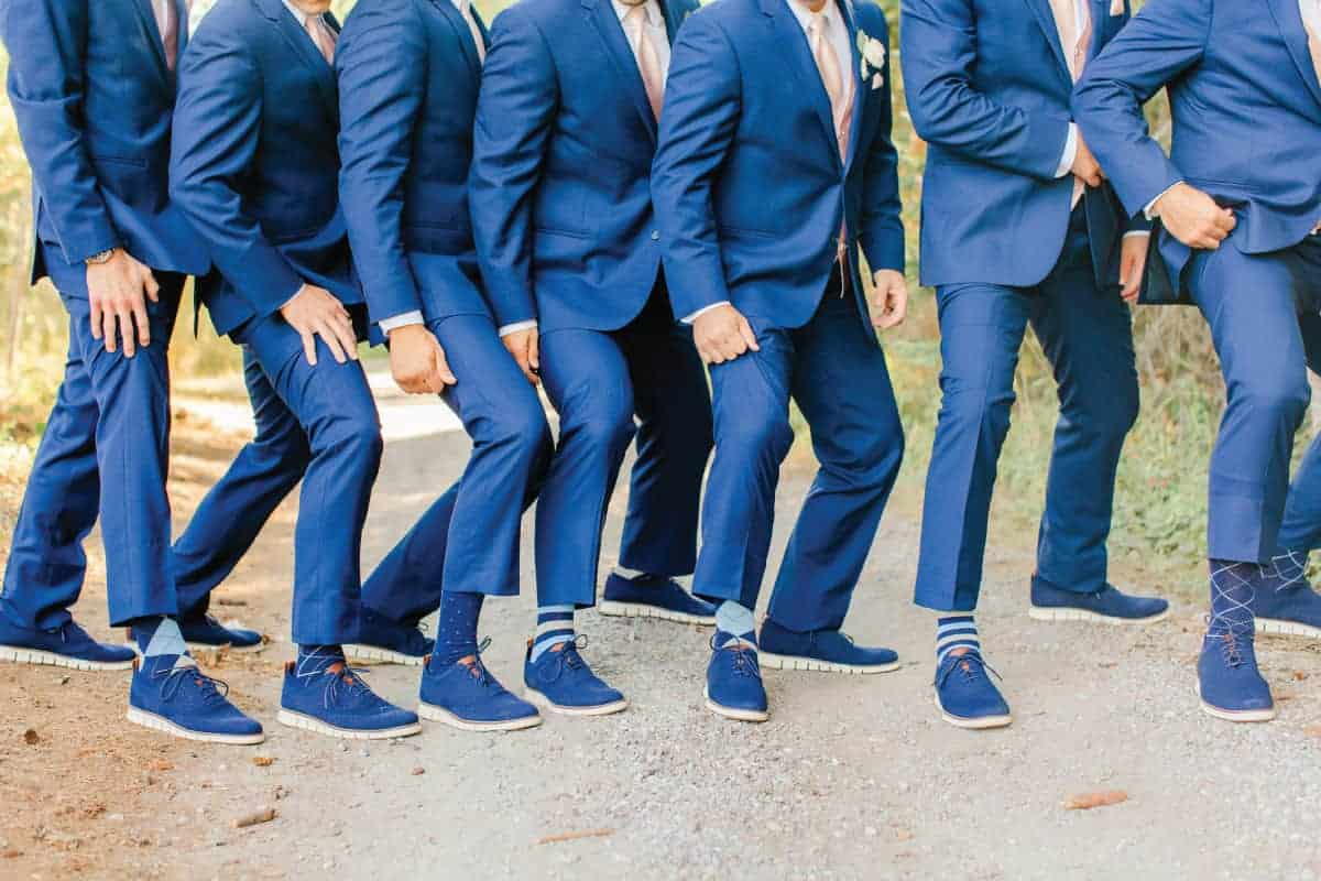 Josh and Groomsmen Sneakers and Fancy Socks