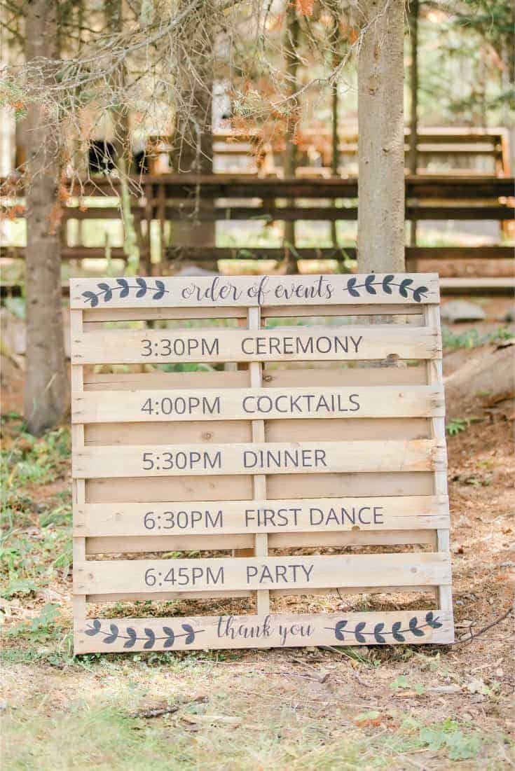 Wedding Bar Sign with Signature Drinks