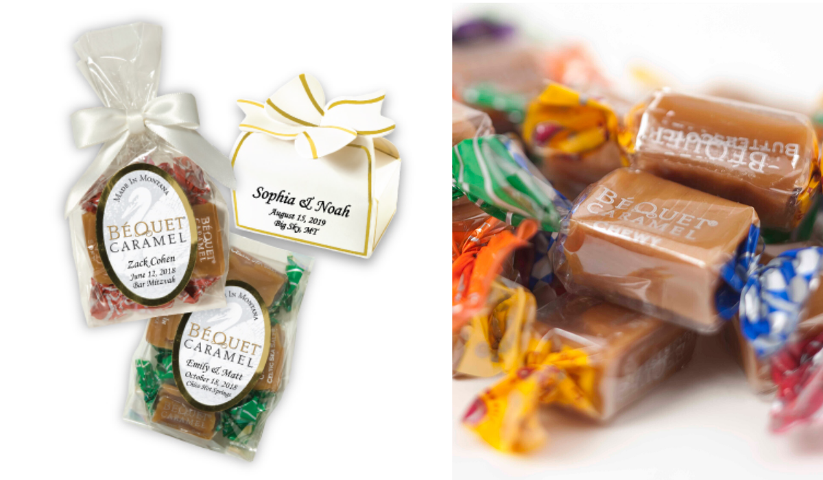 Bequet Caramel Wedding Favors by Bequet Confections