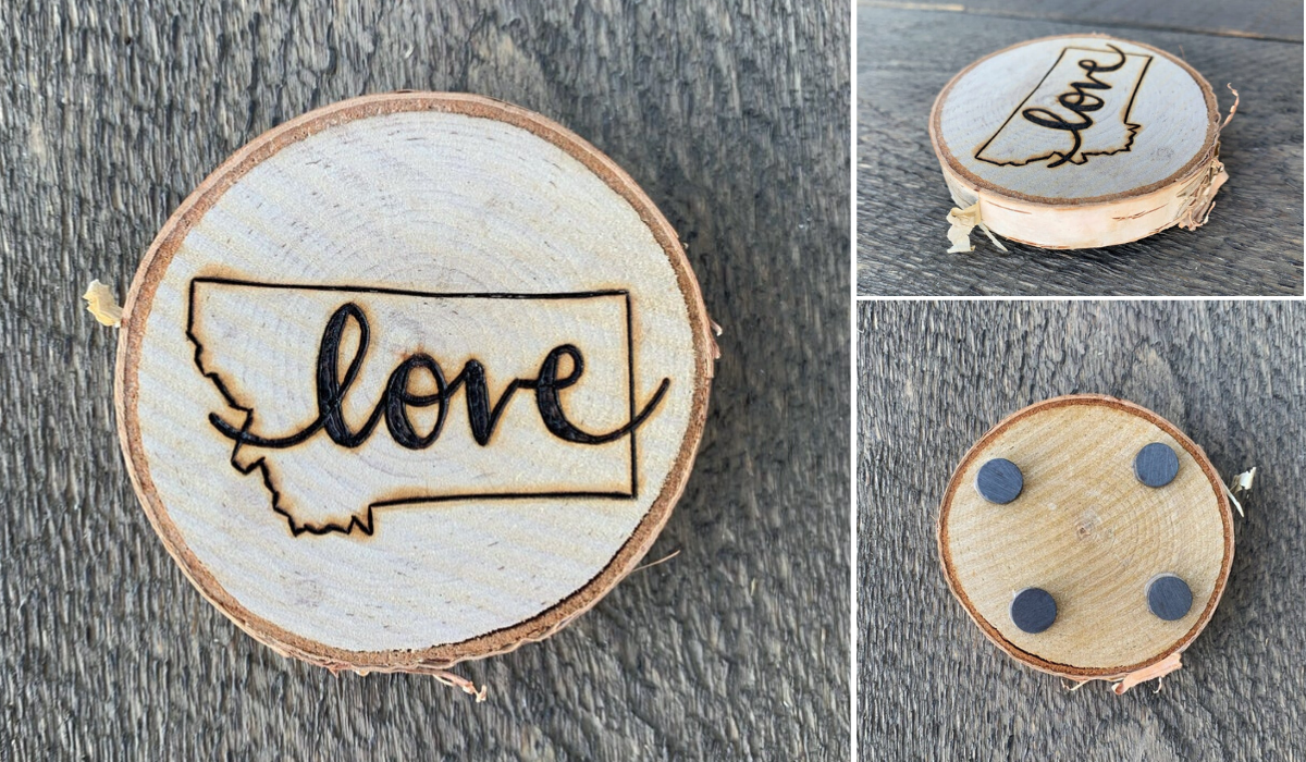 Montana Love Magnet Wedding Favors by Wandering Pine