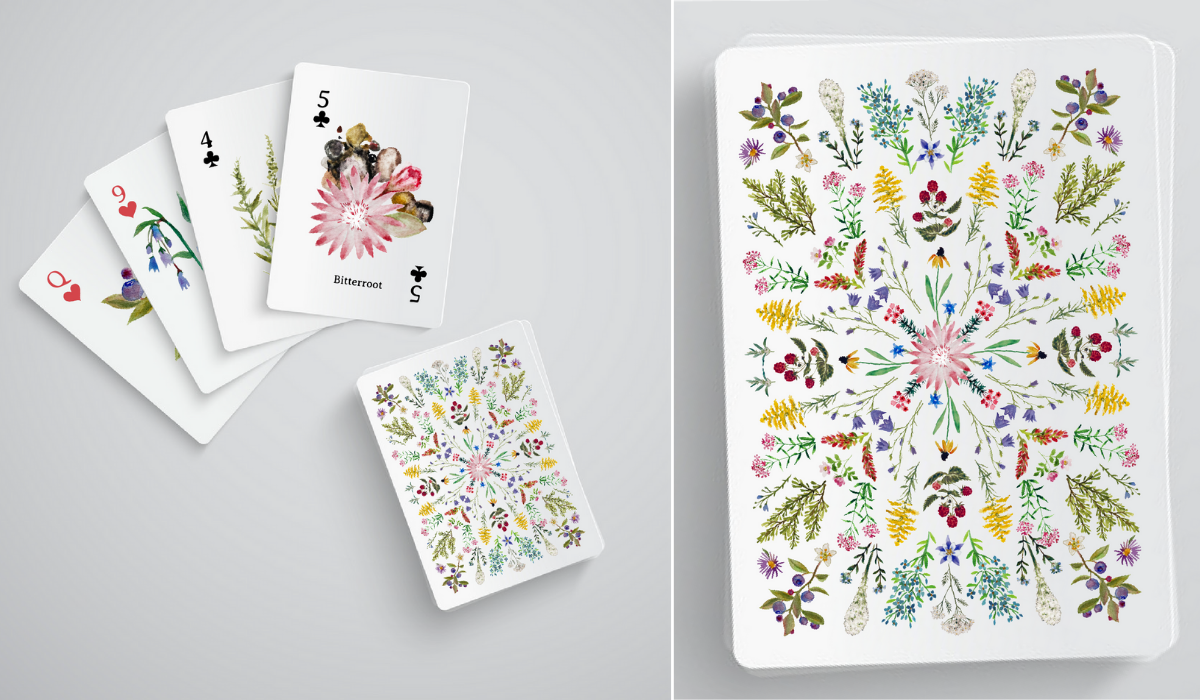 Montana Wildflower Playing Card Wedding Favors by Jasmine Lilly Creative
