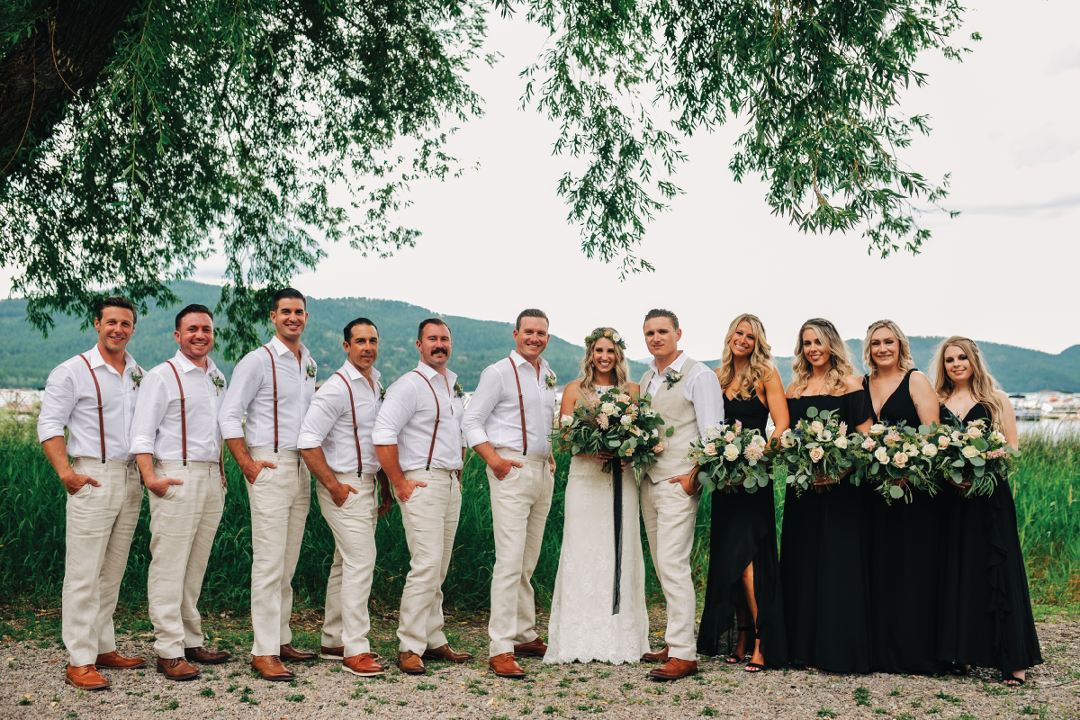 Brittany-and-Zach-Whitefish-Lake-Wedding-Bridal-Party