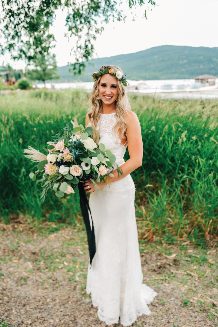 Brittany-and-Zach-Whitefish-Lake-Wedding-Bride-Front