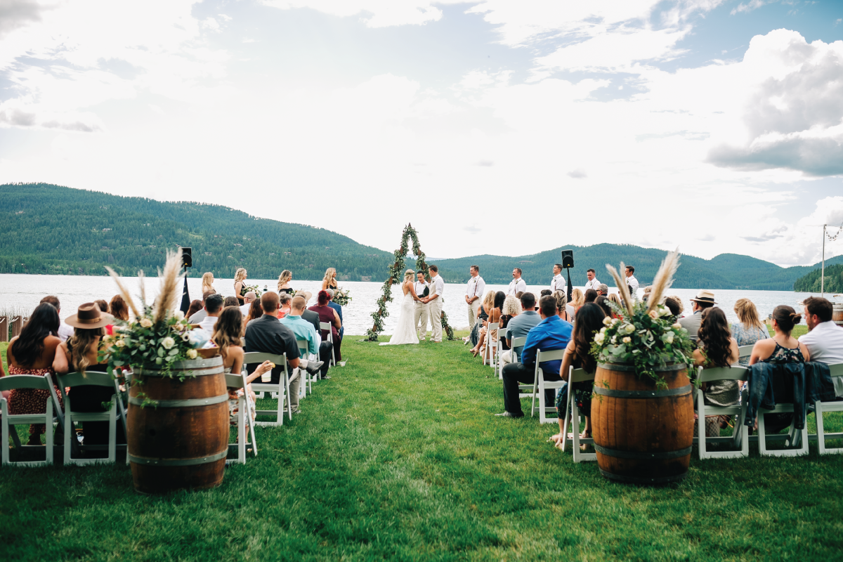 Brittany-and-Zach-Whitefish-Lake-Wedding-Ceremony-Friends-Family