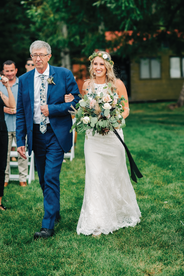 Brittany-and-Zach-Whitefish-Lake-Wedding-Dad-Walks-Bride-Down-Aisle