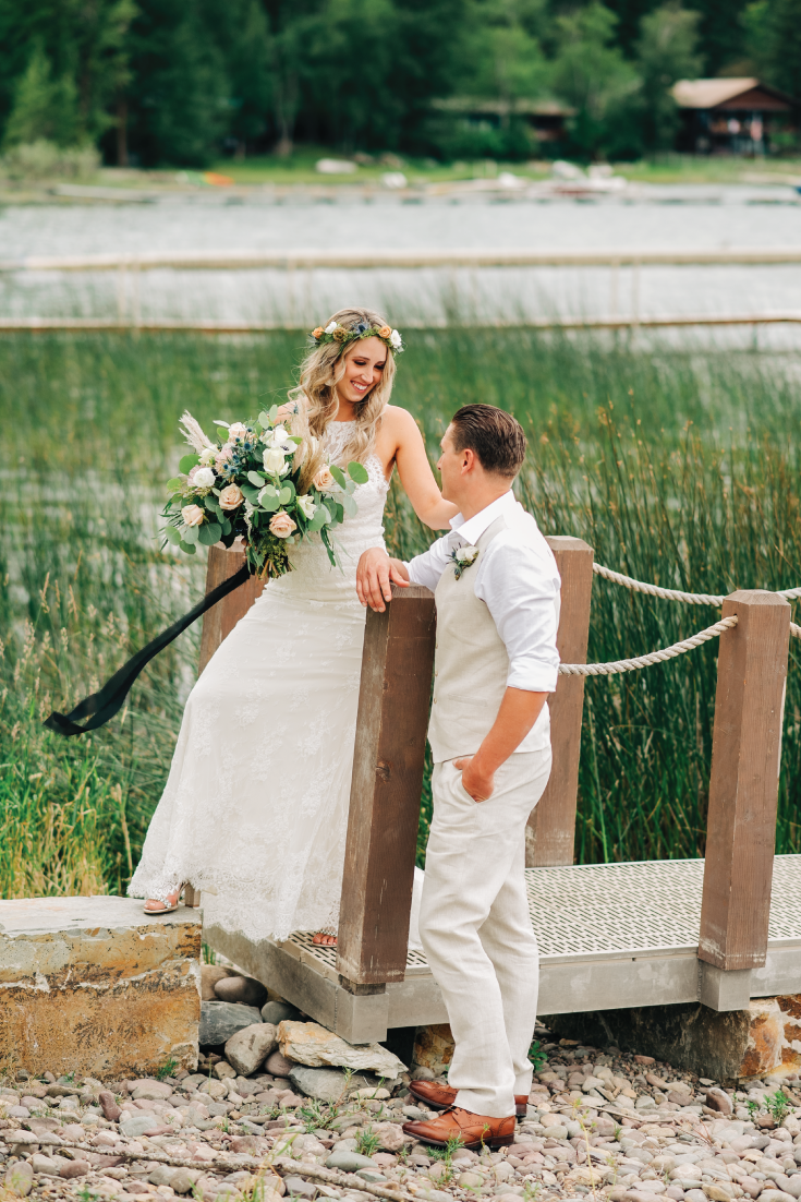 Brittany-and-Zach-Whitefish-Lake-Wedding-On-The-Dock