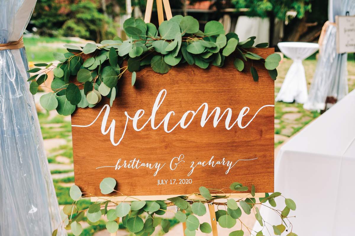 Whitefish-Lake-Wedding-Welcome-Ceremony-Sign