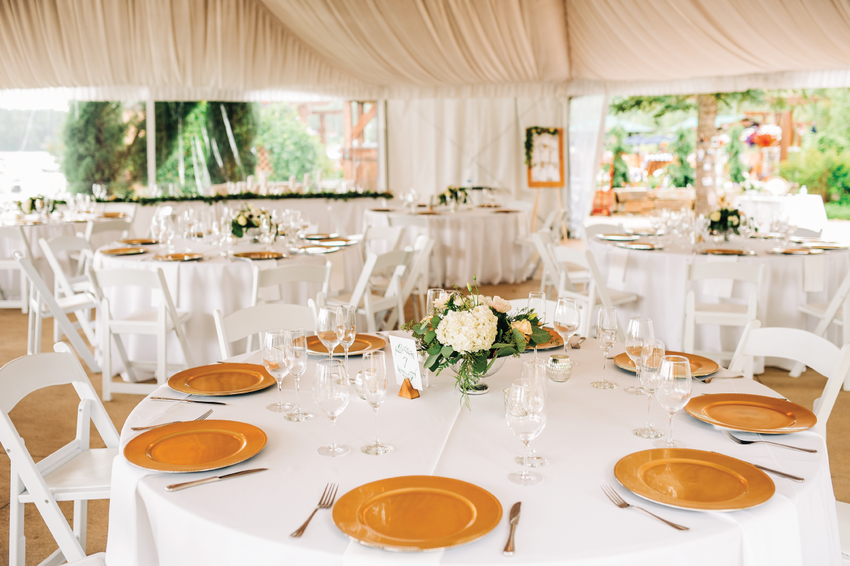 Whitefish-Lake-Wedding-Welcome-Tent-Reception